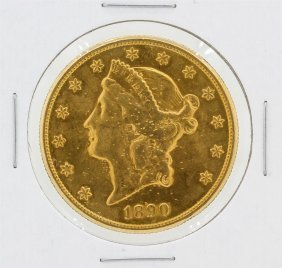 1890-s $20 Liberty Head Double Eagle Gold Coin