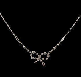 0.38ctw Diamond Necklace - 14kt White Gold