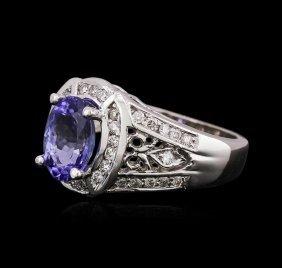 14kt White Gold 1.83ct Tanzanite And Diamond Ring