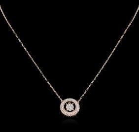 0.64ctw Diamond Necklace - 14kt Rose Gold
