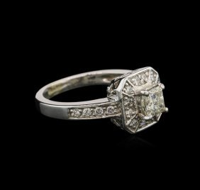 1.01ctw Diamond Ring - 14kt White Gold