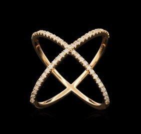 0.50ctw Diamond Ring - 14kt Rose Gold