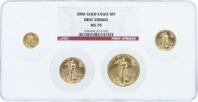 2006 Ngc Ms70 First Strike American Eagle Gold Coin Set