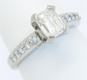 Egl Usa Certified 1.24ctw Diamond Ring - Platinum