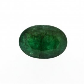 8.13ct. One Oval Cut Natural Emerald