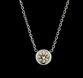 14kt White Gold 0.32ct Diamond Necklace