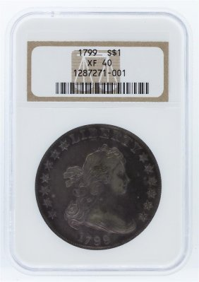 1799 Ngc Xf40 Draped Bust Silver Dollar