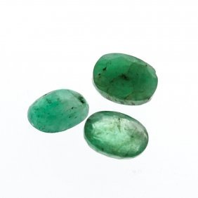 3.88cts. Oval Cut Natural Emerald Parcel