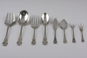 American Victorian 8 Piece Sterling Silver Completer