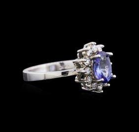 14kt White Gold 1.06ct Tanzanite And Diamond Ring