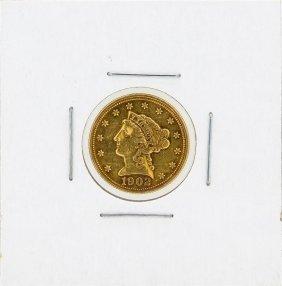 1902 $2.50 Liberty Head Quarter Eagle Gold Coin