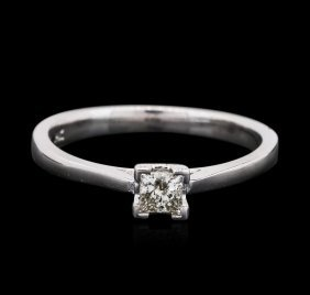 14kt White Gold 0.18ct Diamond Solitaire Ring