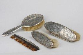 Antique Blackington Sterling Silver Vanity Four Piece