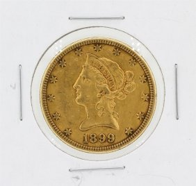 1899-s $10 Xf Liberty Head Eagle Gold Coin