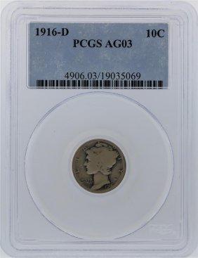 1916-d Pcgs Ag03 Mercury Dime