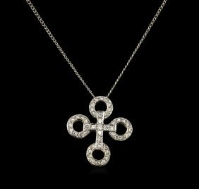 0.52ctw Diamond Pendant - 18kt Two-tone Gold