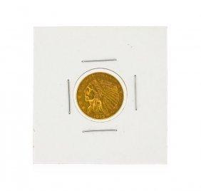 1912 $2.50 Au Indian Head Quarter Eagle Gold Coin