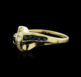 14kt Yellow Gold 0.16ctw Sapphire And Diamond Ring