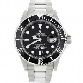 Rolex Stainless Steel Date Submariner Men's Watch