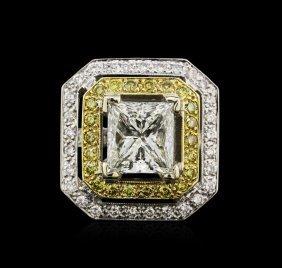 Egl Int 7.80ctw Diamond Ring - 18kt Two-tone Gold