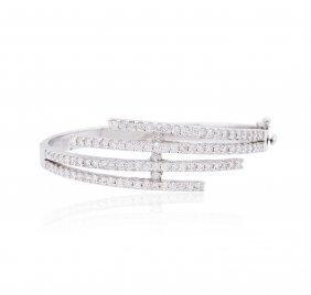 14kt White Gold 3.66ctw Diamond Bracelet