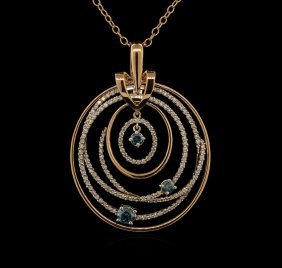 1.91ctw Diamond Pendant With Chain - 14kt Two-tone Gold