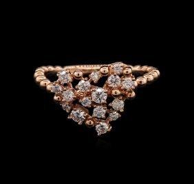 0.51ctw Diamond Ring - 14kt White Gold