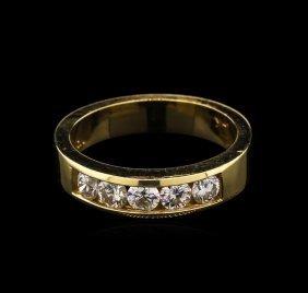 0.76ctw Diamond Ring - 14kkt Two-tone Gold