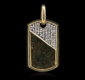 14kt Yellow Gold 0.16ctw Diamond Pendant