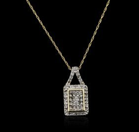 10kt Yellow Gold 0.25ctw Diamond Pendant With Chain