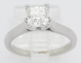Gia Certified 1.04ct Diamond Ring - 18k White Gold