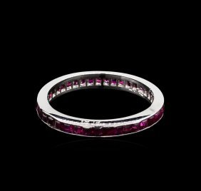1.00ctw Ruby Ring - Platinum