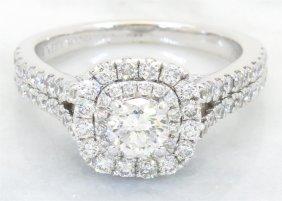 Vera Wang 1.30ctw Diamond And Sapphire Ring - 14kt