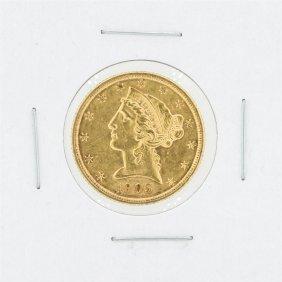 1905-s $5 Au Liberty Head Half Eagle Gold Coin