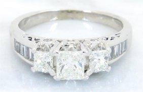 1.40ctw Diamond Ring - 14kt White Gold