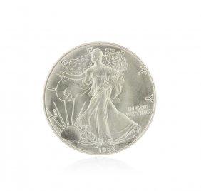 1986 American Silver Eagle Dollar Bu Coin