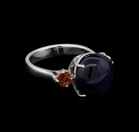 11.32ctw Multi-color Sapphire Ring - 14kt White Gold