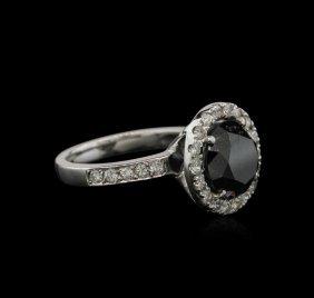 4.22ctw Black Diamond Ring - 14kt White Gold