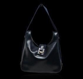 Authentic Hermes Tsako Midnight Blue Bag
