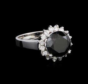 4.95ctw Black Diamond Ring - 14kt White Gold