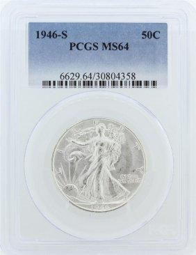 1946-s Pcgs Ms64 Liberty Walking Half Dollar