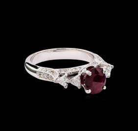 1.51ct Ruby And Diamond Ring - 18kt White Gold