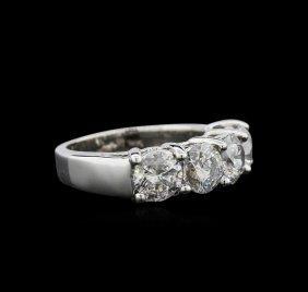 3.01ctw Diamond Ring - 14kt White Gold