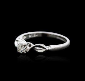 14kt White Gold 0.20ct Diamond Solitaire Ring