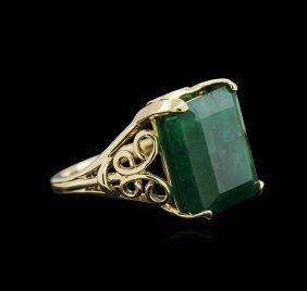 16.36ct Emerald Ring - 14kt Yellow Gold