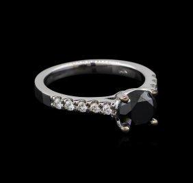 1.92ctw Black Diamond Ring - 14kt White Gold