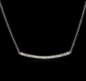 14kt White Gold 0.84ctw Diamond Necklace