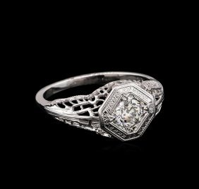0.35ctw Diamond Ring - 14kt White Gold