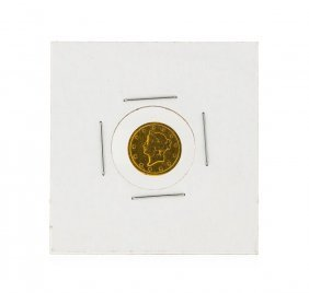 1852 $1 T-1 Gold Coin