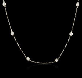 14kt Yellow Gold 0.99ctw Diamond Necklace
